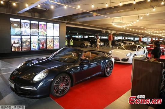 Drive-in theatre opens at mall in Dubai